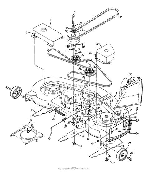 mtd agh  parts diagram  deck assembly