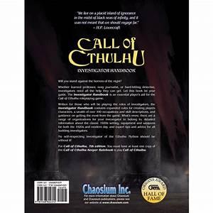 Call Of Cthulhu 7th Edition Investigator Handbook