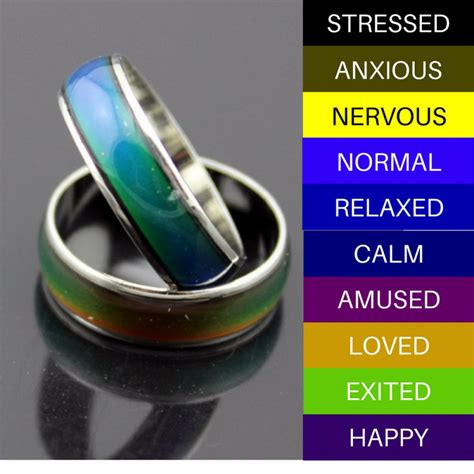 what do the colors of a mood ring exact mood ring color and its meanings