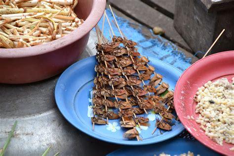 cafards cuisine grillades croissants et bain de vapeur à vientiane découvrir la cuisine de rue en asie