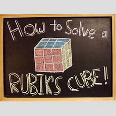How To Solve A Rubik's Cube! Youtube