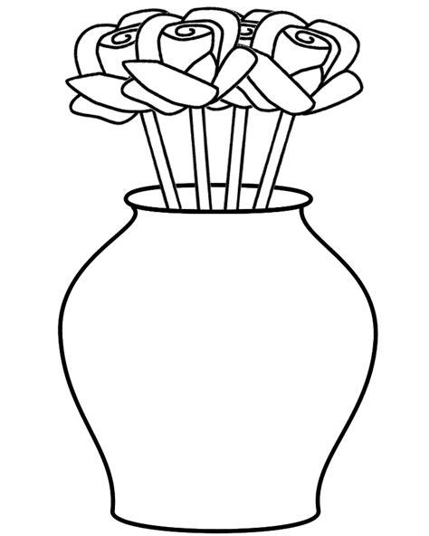 vase clipart coloring page pencil   color vase