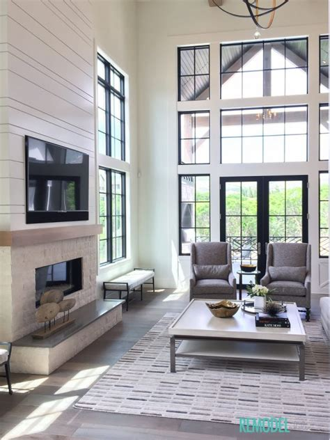 farmhouse living room remodelaholic get this look modern farmhouse living room Industrial