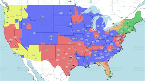 cardinals rams tv coverage map  week  rams guru