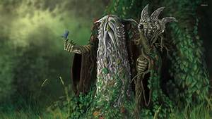 Wizard goblin in the forest wallpaper - Fantasy wallpapers ...
