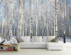 Carta Da Parati Murales : personalizzato mural foto carta da parati 3d betulle neve paesaggio home decor pittura 3d ~ Frokenaadalensverden.com Haus und Dekorationen