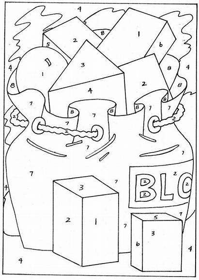 Numbers Coloring Number Pages Colour Worksheets Key