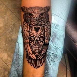 Tatouage Chouette Signification : tatouage t te de mort mexicaine signification tendances ~ Melissatoandfro.com Idées de Décoration