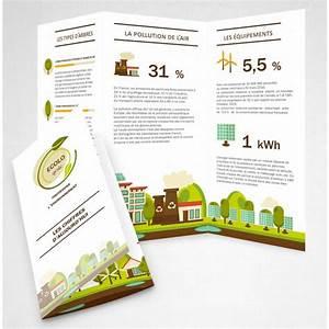 Dépliant 2 Volets : impression de d pliant en papier recycl d pliant recycl ~ Melissatoandfro.com Idées de Décoration
