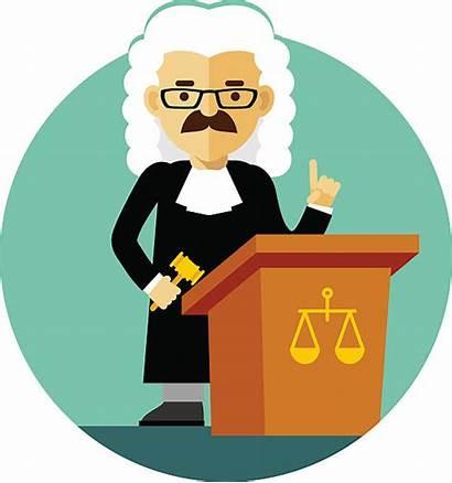 Judge Law Vector Clip Gavel Illustrations Illustration