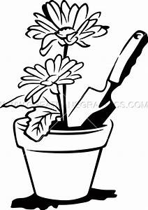 Flower Pot Clipart Black And White | Free download best ...