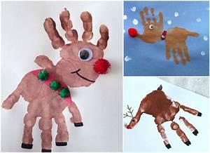 Malen Mit Kleinkindern Ideen : mit handabdruck zu weihnachten malen den kindern macht ~ Watch28wear.com Haus und Dekorationen