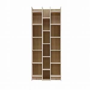 Bibliothèque En Pin Brut : biblioth que design 3 colonnes en bois massif klasina drawer ~ Edinachiropracticcenter.com Idées de Décoration