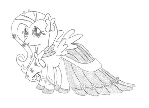 Gala Kleurplaat by My Pony Coloring Pages Fluttershy Gala