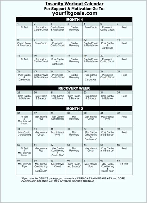 insanity workout calendar pdf workoutwaper co