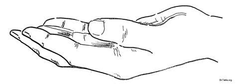 Image: Open hand صورة يد مفتوحة
