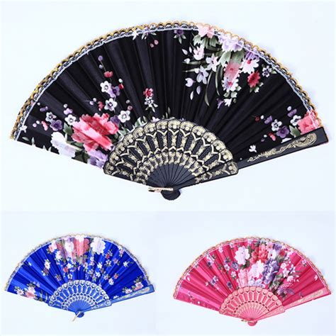 how to make a hand fan with fabric folding hand fan fabric floral wedding dance favor pocket