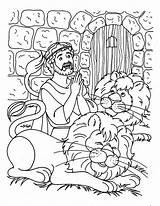 Daniel Den Lions Coloring Praying Times Three Print Netart sketch template