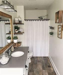 30, Popular, Farmhouse, Small, Bathroom, Decorating, Ideas