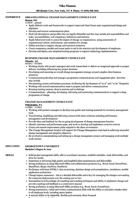 Management Consultant Resume by Change Management Consultant Resume Sles Velvet