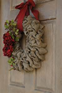 holiday burlap wreath christmas burlap wreath with red peony flowers and berries