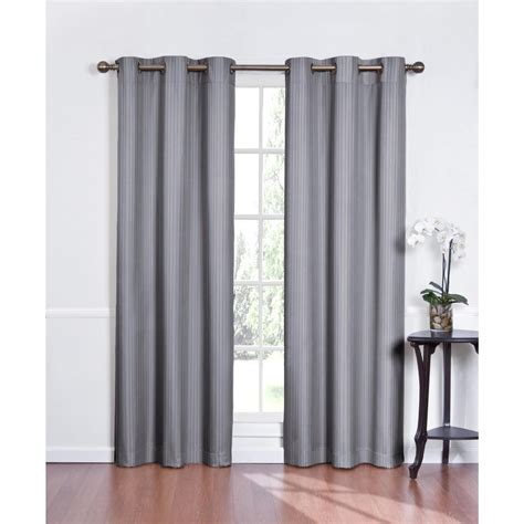trendy light grey grommet curtain design idea for living