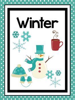 printable seasons posters seasons preschool posters