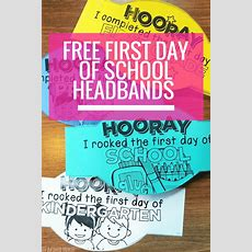 Free First Day Of School Headband Crowns  Teach Junkie