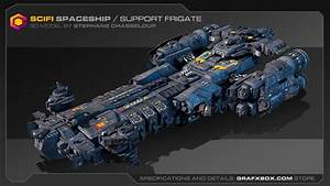 SciFi Spaceship / Support Frigate - YouTube