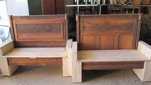 Old Bed Transformed Into Benches Using Pallets • 1001 Pallets