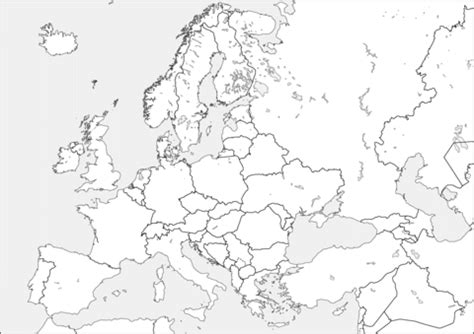 europe map coloring page  printable coloring pages