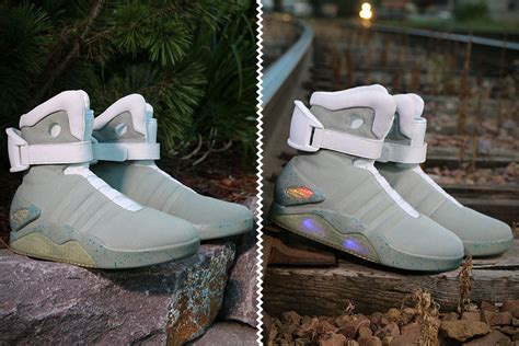 back to the future light up shoes complete your marty mcfly look this with this