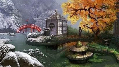 Japanese Garden Wallpapers Japan Desktop Gardens Widescreen
