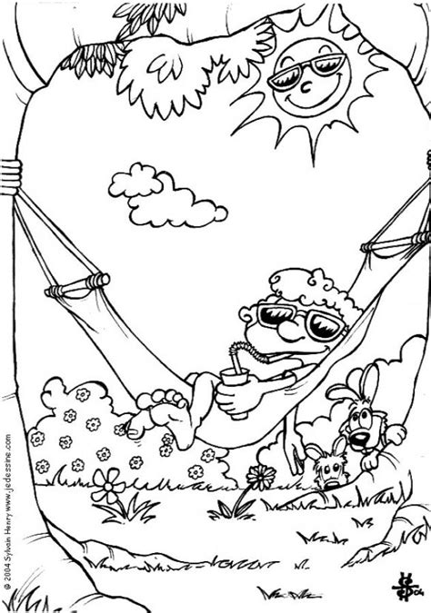 Hammock coloring pages - Hellokids.com