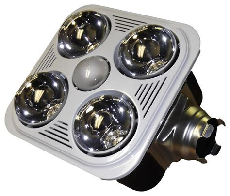 bathroom fan light bulb aero pure fan a716rw 4 bulb quiet bathroom heater fan with