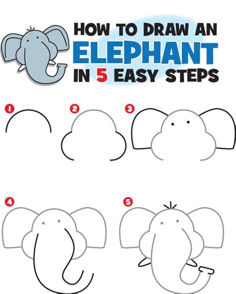 ideas  easy elephant drawing  pinterest