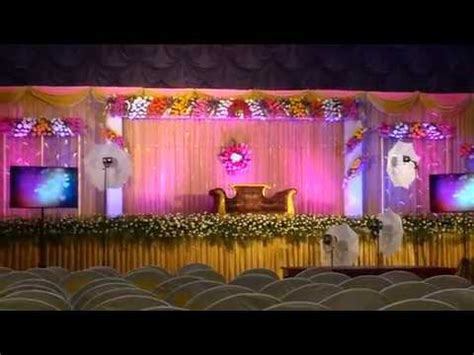 wedding reception stage decoration youtube