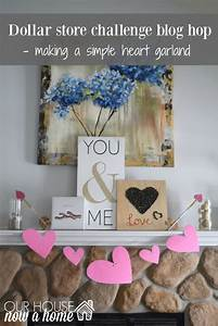 Dollar store Valentines blog hop, making a simple heart
