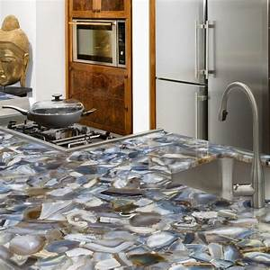grey agate countertop semi precious eclectic miami With kitchen colors with white cabinets with geode agate wall art