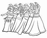 Belly Coloring Dancers Dancing sketch template