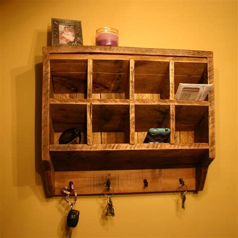 Key Rack Holder Wall Organizer Reclaimed Wood By