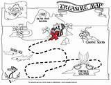 Treasure Map Printable Cut Craft Paste Hunts Coloring sketch template