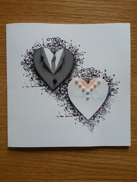 handmade wedding card from lotta 180 s blog paper piecing
