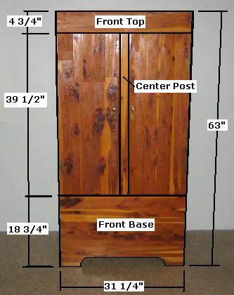 armoire wardrobe closet plans   build