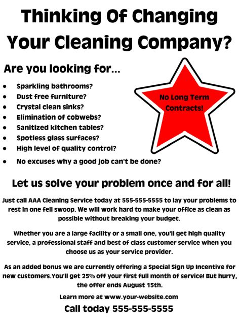Free Cleaning Business Flyer Templates Costumepartyrun