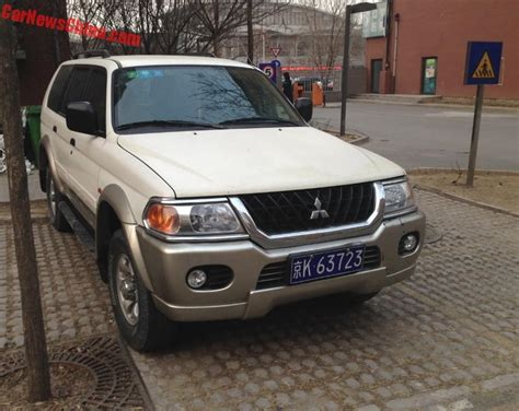 pajero jeep 2016 spotted in china beijing jeep mitsubishi pajero sport