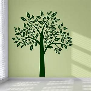 Full leafy tree wall art stickers wall decal transfers for Tree wall stickers