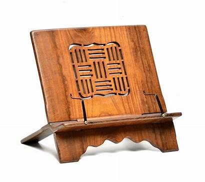 Stand Wood Holder Folding Tablet Teak Support