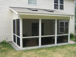 Shed Roof Screened in Porch with Deck