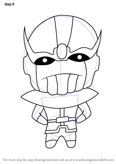 learn   draw chibi thanos chibi characters step